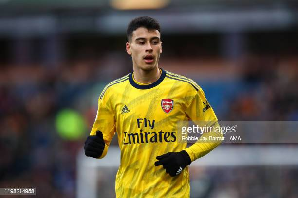 Gabriel Martinelli of Arsenal during the Premier League match between Burnley FC and Arsenal FC at Turf Moor on February 2 2020 in Burnley United...
