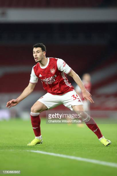 Gabriel Martinelli of Arsenal during the Premier League match between Arsenal and Manchester United at Emirates Stadium on January 30, 2021 in...