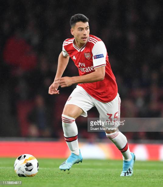 Gabriel Martinelli of Arsenal during the UEFA Europa League group F match between Arsenal FC and Standard Liege at Emirates Stadium on October 03...