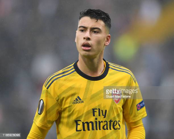 Gabriel Martinelli of Arsenal during the UEFA Europa League group F match between Vitoria Guimaraes and Arsenal FC at Estadio Dom Afonso Henriques on...