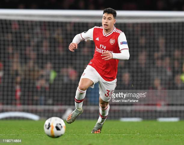 Gabriel Martinelli of Arsenal during the UEFA Europa League group F match between Arsenal FC and Eintracht Frankfurt at Emirates Stadium on November...