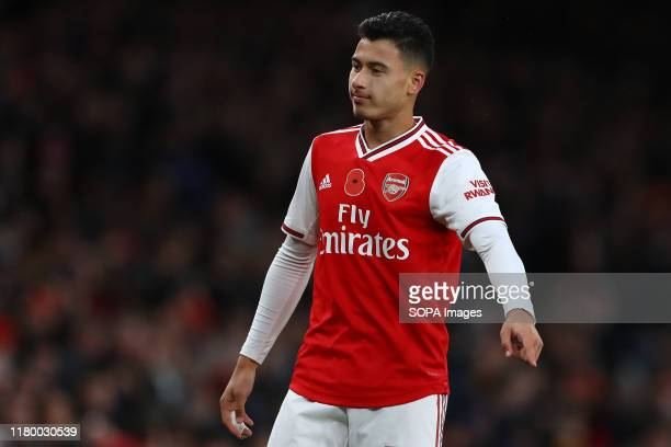Gabriel Martinelli of Arsenal seen in action during the Premier League match between Arsenal FC and Wolverhampton Wanderers Emirates Stadium