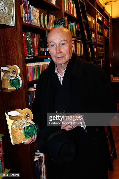 Gabriel Matzneff attends the book signing of Dream Life by Thadee Klossowski De Rola at Galignani Bookstore in Paris France on March 20 2013