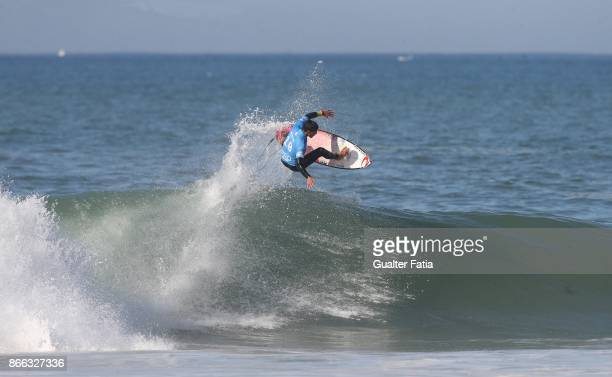 Gabriel Medina from Brazil in action during Semifinals heat 2 of the Meo Rip Curl Pro Portugal 2017 at Supertubos beach on October 25 2017 in Peniche...