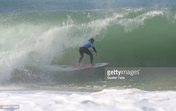 Gabriel Medina from Brazil in action during the Final of the Meo Rip Curl Pro Portugal 2017 at Supertubos beach on October 25 2017 in Peniche Portugal