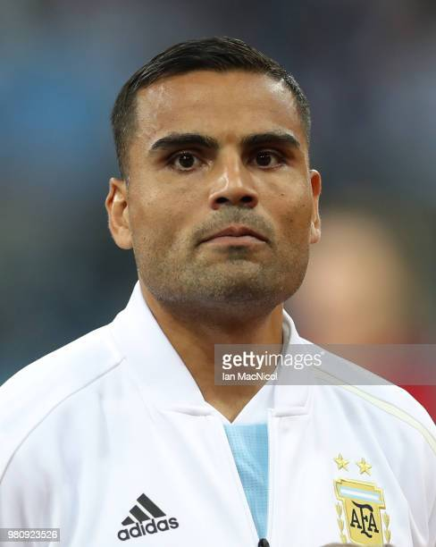 Gabriel Mercado of Argentina is seen during the 2018 FIFA World Cup Russia group D match between Argentina and Croatia at Nizhny Novgorod Stadium on...