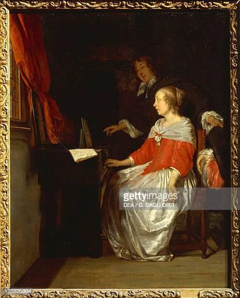 Gabriel Metsu Music Lesson for Harpsichord oil on panel 32x245 cm