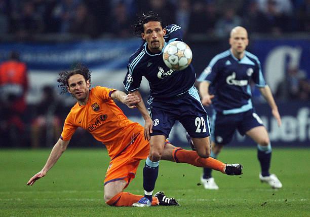 Resultado de imagen para schalke 04 vs barcelona 2008