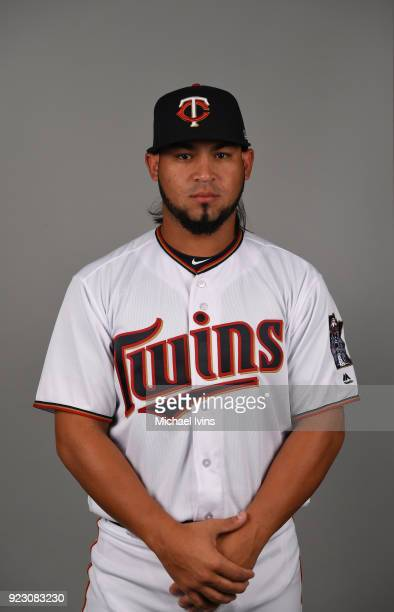Gabriel Moya of the Minnesota Twins poses during Photo Day on Wednesday February 21 2018 at CenturyLink Sports Complex in Fort Myers Florida