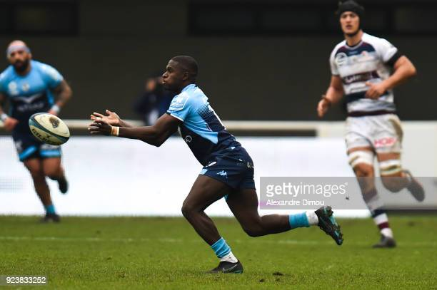 Gabriel Ngandebe of Montpellier during the Top 14 match between Montpellier and Bordeaux Begles on February 24 2018 in Montpellier France