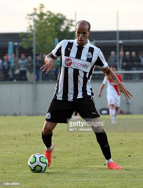Gabriel Obertan of Newcastle United during a pre season friendly match between Newcastle United and AS Monaco at the HackerPschorr Sports Park on...