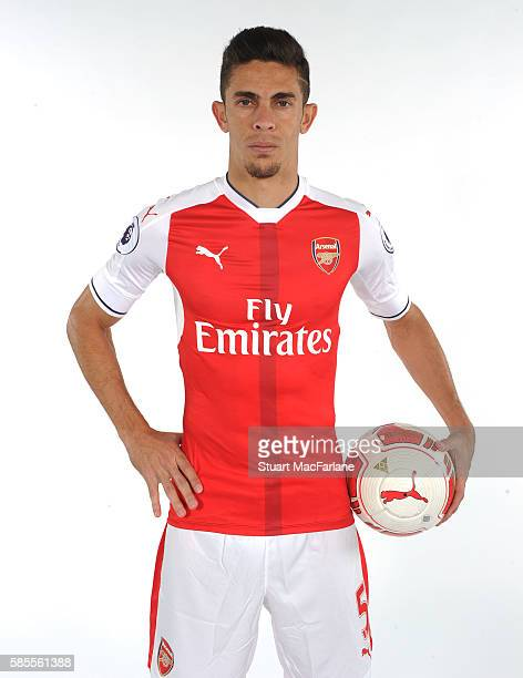 Gabriel of Arsenal at the 1st team photocall at London Colney on August 3 2016 in St Albans England