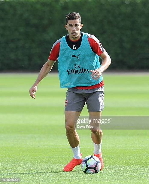 Gabriel of Arsenal during Arsenal Training Session at London Colney on September 9 2016 in St Albans England