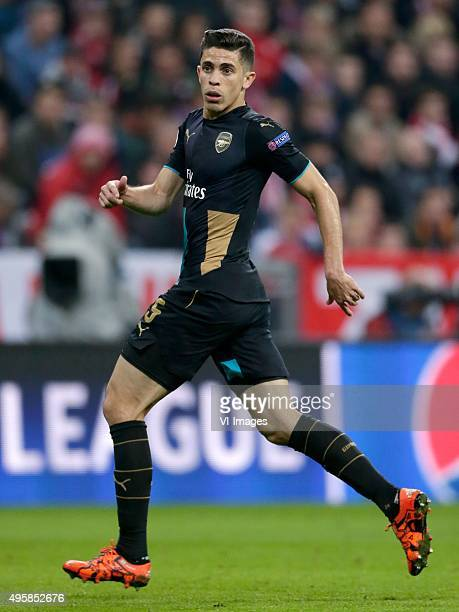 Gabriel of Arsenal during the Champion League group F match between FC Bayern Munich and Arsenal FC on November 4 2015 at the Allianz Arena in Munich...