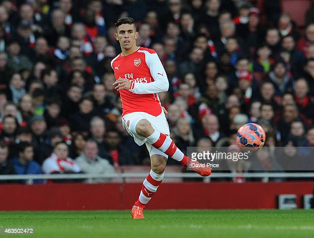Gabriel of Arsenal during the match between Arsenal and Middlesbrough in the FA Cup 5th Round at Emirates Stadium on February 15 2015 in London...