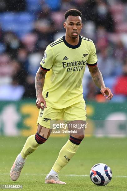 Gabriel of Arsenal during the Premier League match between Crystal Palace and Arsenal at Selhurst Park on May 19, 2021 in London, England.