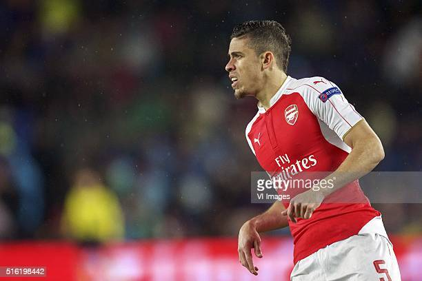 Gabriel of Arsenal FC during the UEFA Champions League round of 16 match between FC Barcelona and Arsenal on March 16 2015 at the CampNou stadium in...