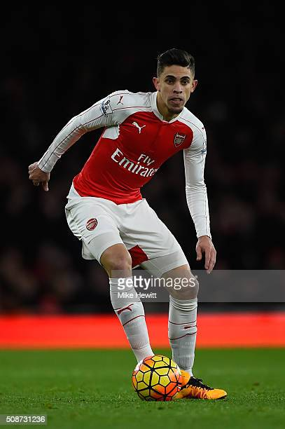Gabriel of Arsenal in action during the Barclays Premier League match between Arsenal and Southampton at the Emirates stadium on February 2 2016 in...
