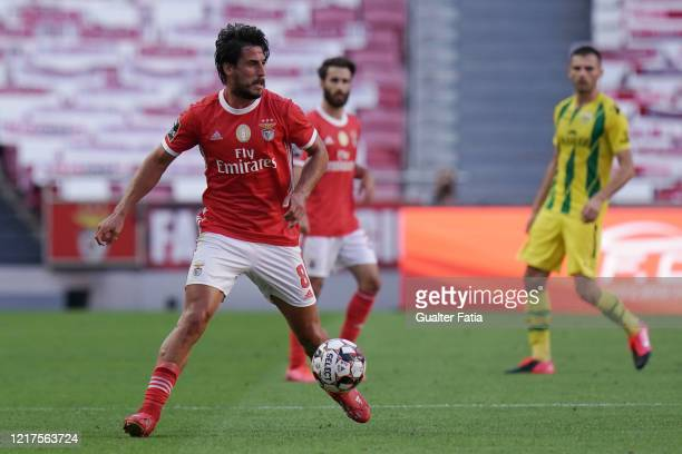 Gabriel of SL Benfica in action during the Liga NOS match between SL Benfica and CD Tondela at Estadio da Luz on June 4 2020 in Lisbon Portugal