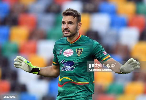 Gabriel of US Lecce gestures during the Serie A match between Udinese Calcio and US Lecce at Stadio Friuli on July 29, 2020 in Udine, Italy.