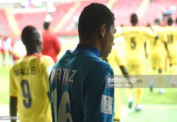 Gabriel Ortiz of Honduras leaves the tunnel prior to the FIFA U17 World Cup Chile 2015 Group D match between Mali and Honduras at Estadio Nelson...