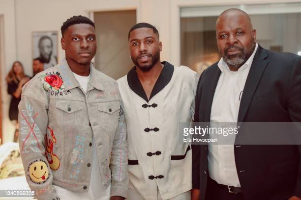 Gabriel Osei-Acheampong, Kwaku Osei-Acheampong, and Jason Parke attend The One And Only, Dick Gregory, Album Release Event on September 16, 2021 in...