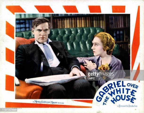 Gabriel Over The White House lobbycard from left Walter Huston Karen Morley 1933