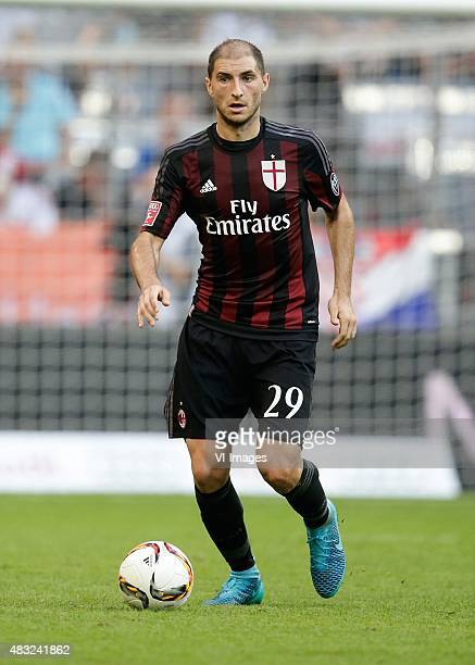 Gabriel Paletta of AC Milan during the AUDI Cup bronze final match between Tottenham Hotspur and AC Milan on August 5 2015 at the Allianz Arena in...