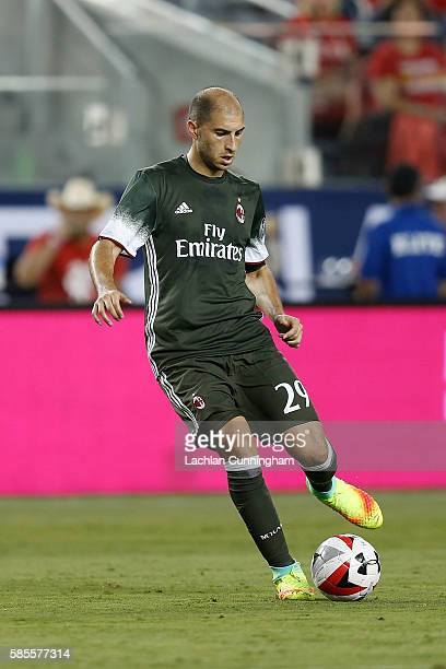 Gabriel Paletta of AC Milan in action against Liverpool FC during the International Champions Cup match at Levi's Stadium on July 30 2016 in Santa...