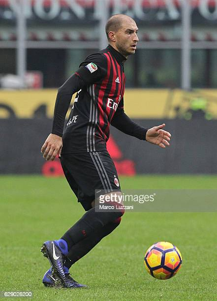 Gabriel Paletta of AC Milan in action during the Serie A match between AC Milan and FC Crotone at Stadio Giuseppe Meazza on December 4 2016 in Milan...