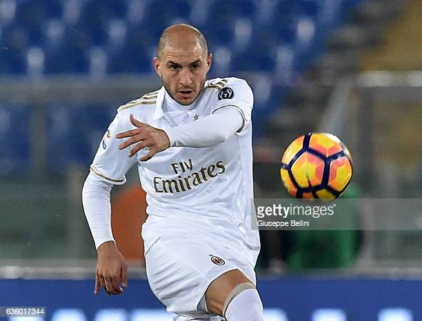 Gabriel Paletta of AC Milan in action during the Serie A match between AS Roma and AC Milan at Stadio Olimpico on December 12 2016 in Rome Italy