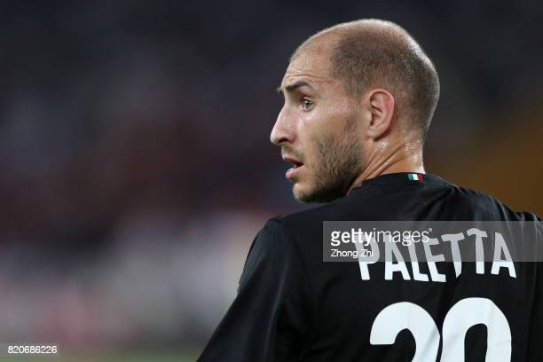 Gabriel Paletta of AC Milan looks on during the 2017 International Champions Cup football match between AC Milan and FC Bayern Muenchen on July 22...