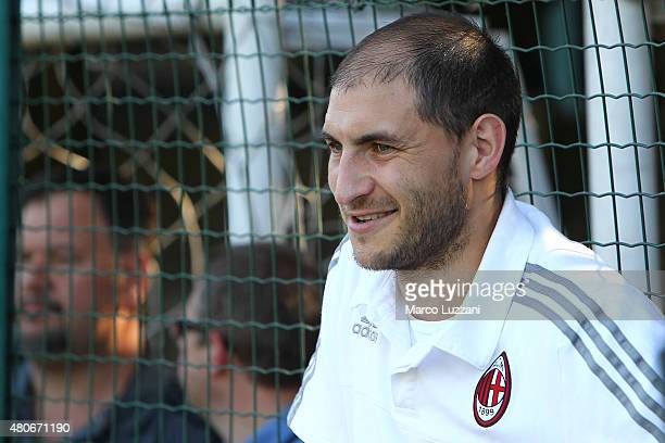 Gabriel Paletta of AC Milan looks on during the preseason friendly match between AC Milan and Legnano on July 14 2015 in Solbiate Arno Italy