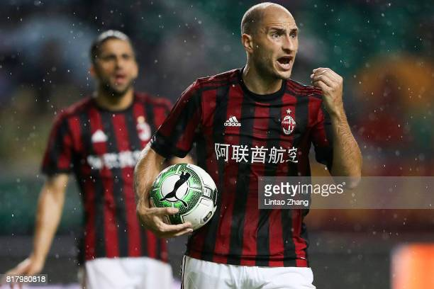 Gabriel Paletta of AC Milan reacts during the 2017 International Champions Cup football match between AC milan and Borussia Dortmund at University...