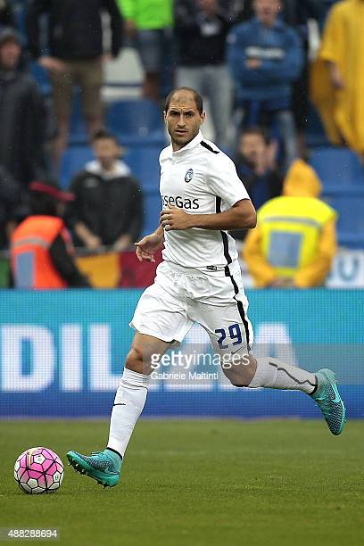 Gabriel Paletta of Atalanta BC in action during the Serie A match between US Sassuolo Calcio and Atalanta BC at Mapei Stadium Città del Tricolore on...
