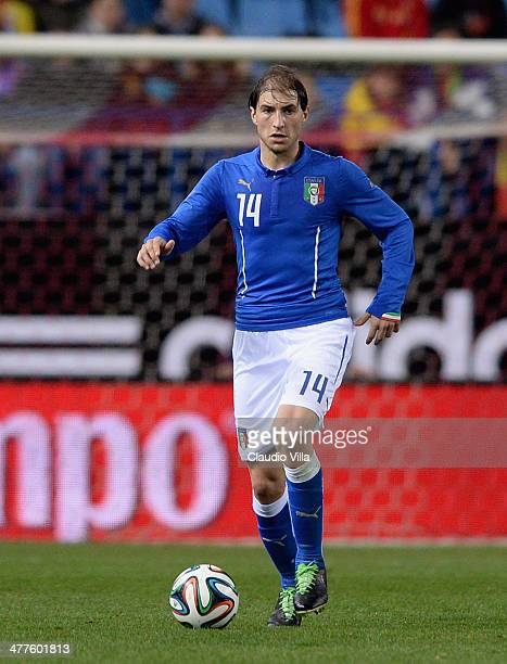 Gabriel Paletta of Italy in action during the international friendly match between Spain and Italy on March 5, 2014 in Madrid, Spain.