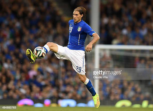 Gabriel Paletta of Italy in action during the International Friendly match between Italy and Ireland at Craven Cottage on May 31 2014 in London...