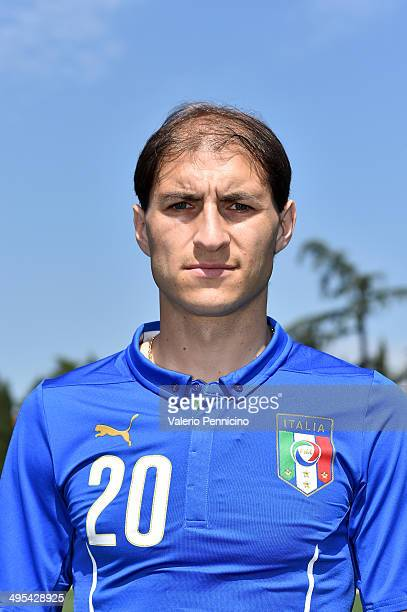 Gabriel Paletta of Italy poses during a portrait session ahead of the 2014 FIFA World Cup at Coverciano on June 3 2014 in Florence Italy