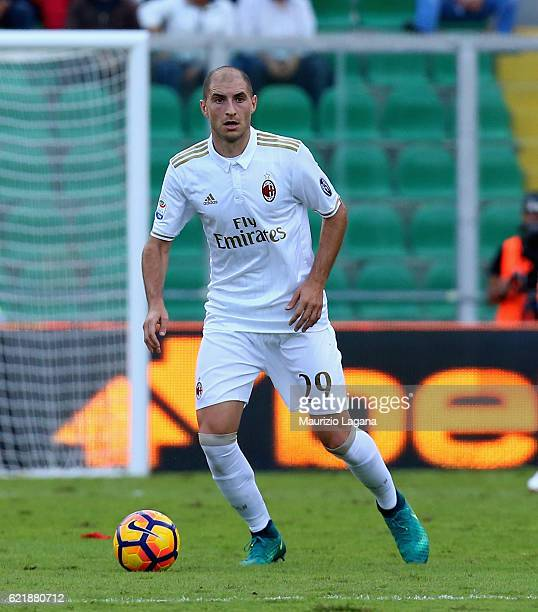 Gabriel Paletta of Milan during the Serie A match between US Citta di Palermo and AC Milan at Stadio Renzo Barbera on November 6 2016 in Palermo Italy