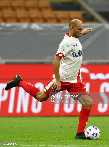 Gabriel Paletta of Monza in action during the pre-season friendly match between AC Milan and Monza at Stadio Giuseppe Meazza on September 5, 2020 in...