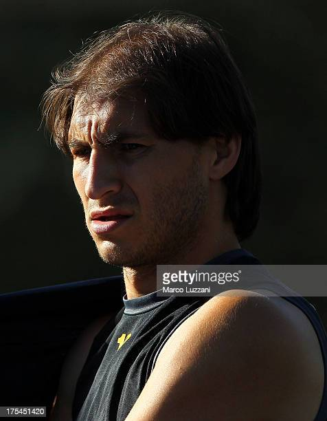 Gabriel Paletta of Parma FC looks on during FC Parma Training Session on August 3 2013 in Gubbio Italy