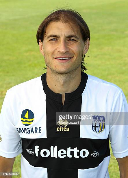 Gabriel Paletta of Parma FC poses for an official portrait at the club's training ground on August 20 2013 in Collecchio Italy