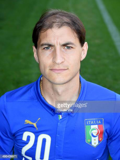 Gabriel Paletta poses during Italy Official Portraits for Brazil 2014 World Cup at Coverciano on June 3 2014 in Florence Italy