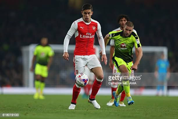 Gabriel Paulista of Arsenal during the EFL Cup fourth round match between Arsenal and Reading at Emirates Stadium on October 25 2016 in London England