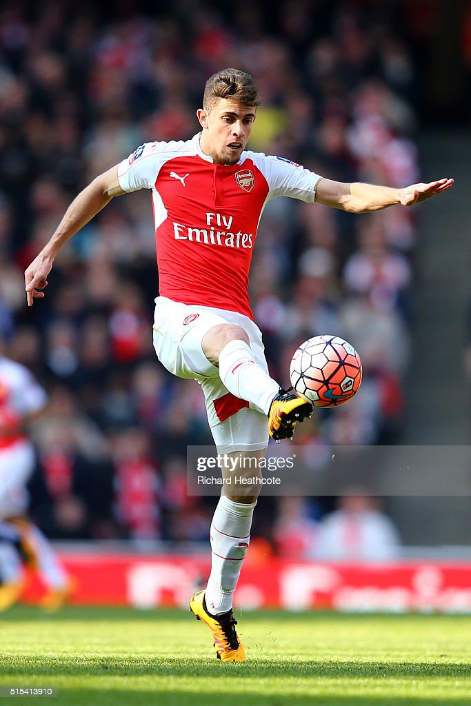 Gabriel Paulista of Arsenal in action during The Emirates FA Cup Sixth Round match between Arsenal and Watford at the Emirates Stadium on March 13, 2016 in London, England.