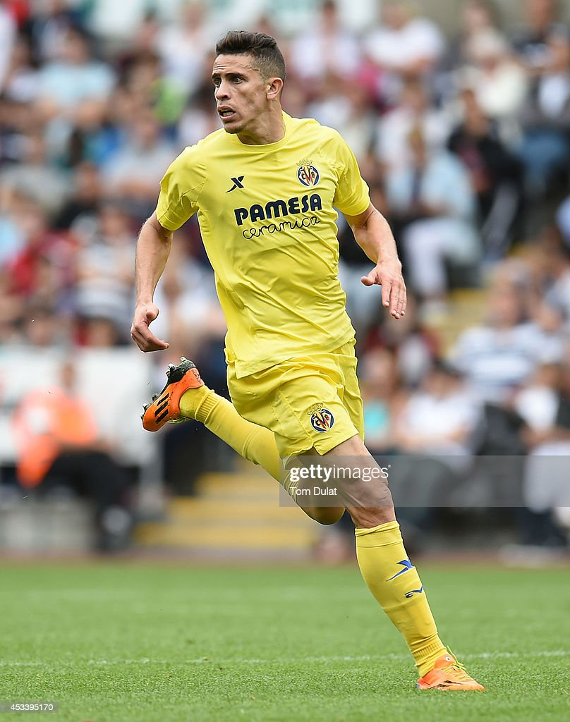 Gabriel Paulista of Villarreal in action during a pre season friendly match between Swansea City and Villarreal at Liberty Stadium on August 09, 2014 in Swansea, Wales.
