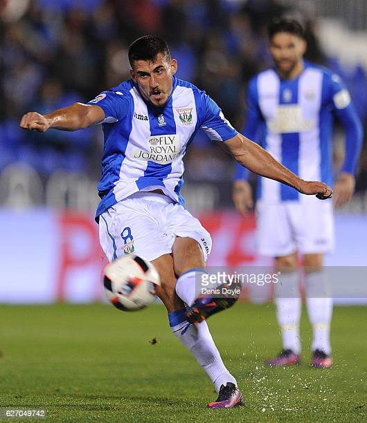 Gabriel Pires of CD Leganes in action during the Copa del Rey Round of 32 match between CD Leganes and Valencia CF at Estadio Municipal de Butarque...