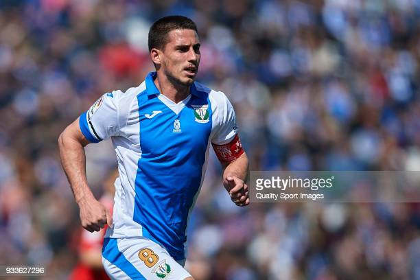 Gabriel Pires of Leganes in action during the La Liga match between Leganes and Sevilla at Estadio Municipal de Butarque on March 18 2018 in Leganes...