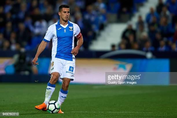 Gabriel Pires of Leganes in action during the La Liga match between Leganes and Deportivo La Coruna at Estadio Municipal de Butarque on April 20 2018...