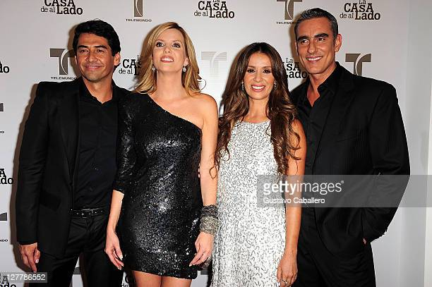 Gabriel Porras, Maritza Rodriguez, Catherine Siachoque and Miguel Varoni attend Telemundo La Casa de al Lado VIP Premiere at Mandarin Oriental on May...